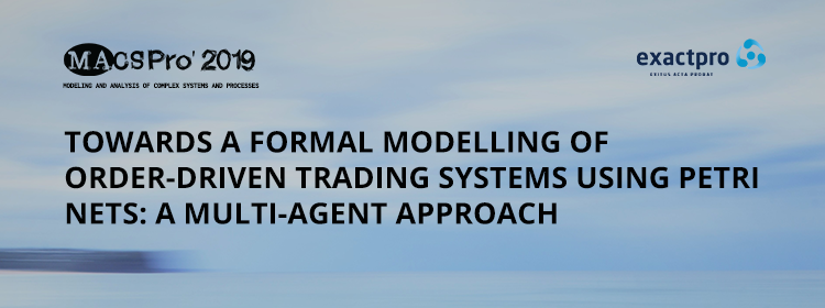 Towards a Formal Modelling of Order-driven Trading Systems using Petri Nets: A Multi-Agent Approach